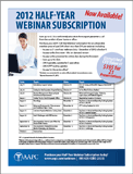2012 Half-Year Webinar Subscription Flyer