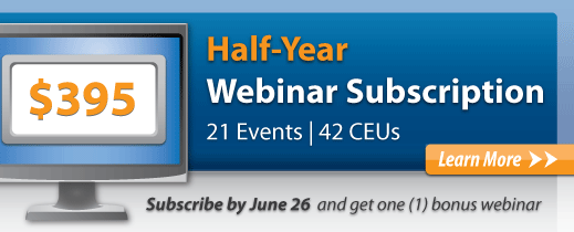 Webinar Half-Year Subscription