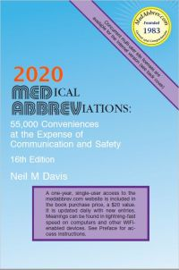 2020 Medical Abbreviations: 55,000 Conveniences - 16th edition (MedAbbrev)