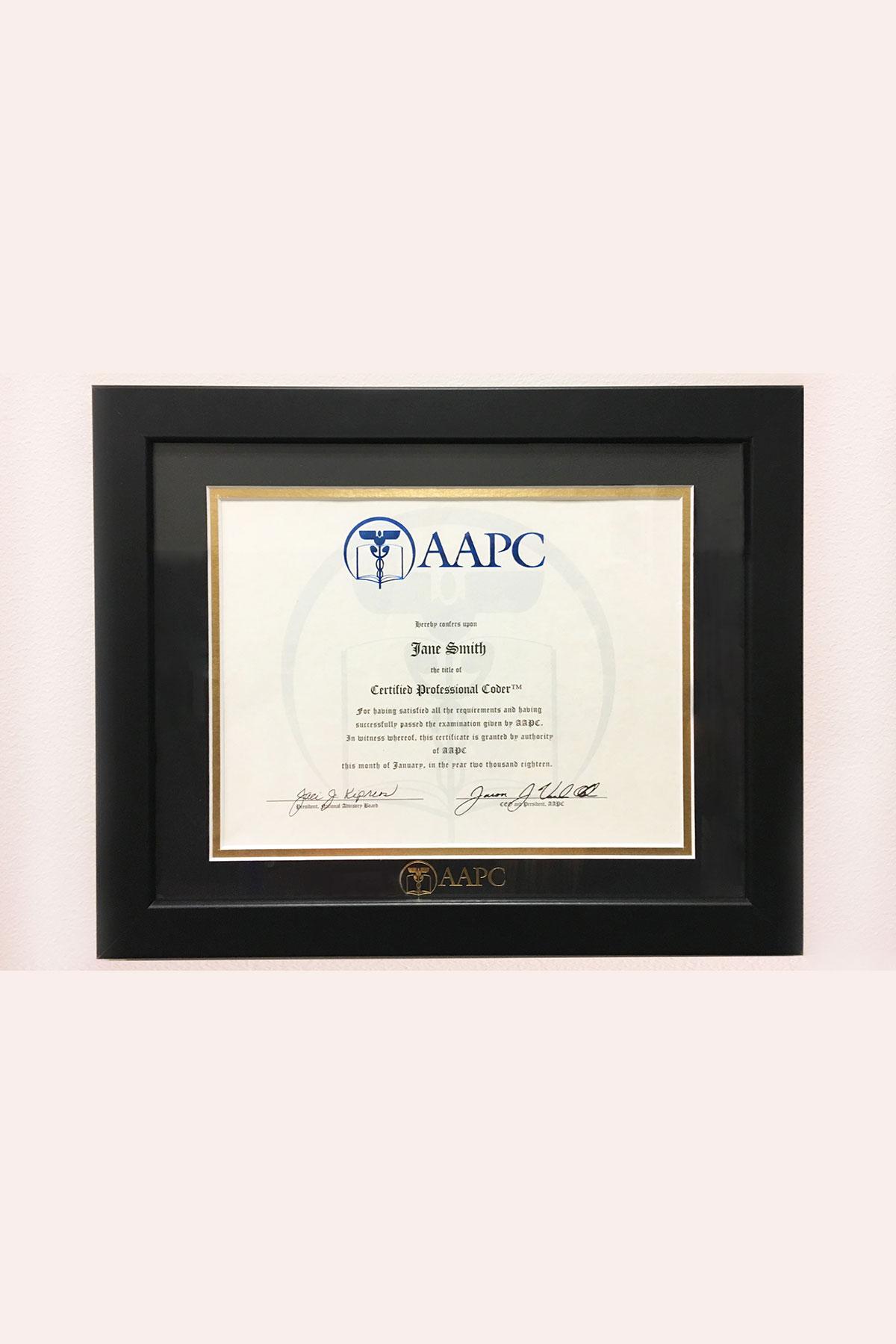 AAPC Diploma Frame