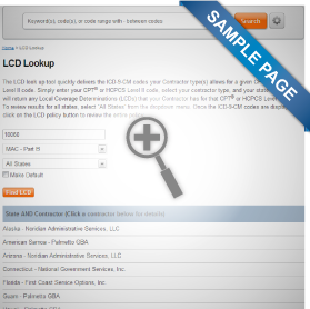 Medicare LCD Lookup - Sales Image