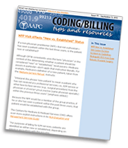 Coding/Billing Tips and Resources