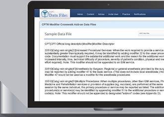 CPT<sup>&reg;</sup> Modifier Crosswalk Add-on