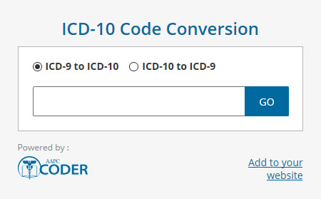 ICD-10 Code Conversion