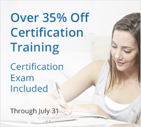 Over 35% Off on Certification Training Courses